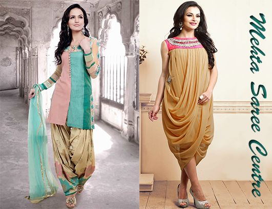 Tip for the day! You can convert your old saree into a trending designer dress.
