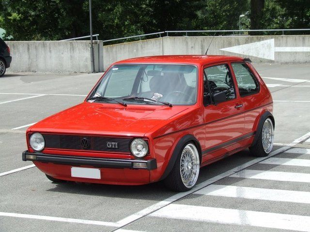 Another beauty of a Mk1 Golf GTI #vw