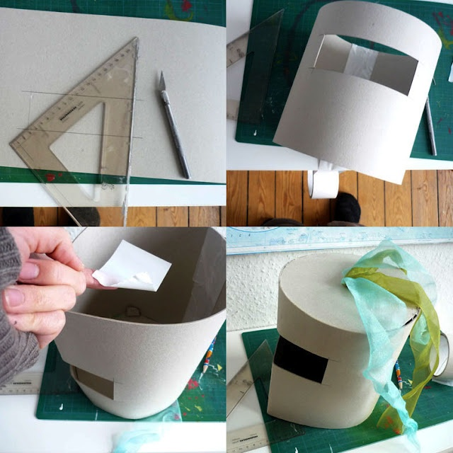 Knight helmet - make from felt?