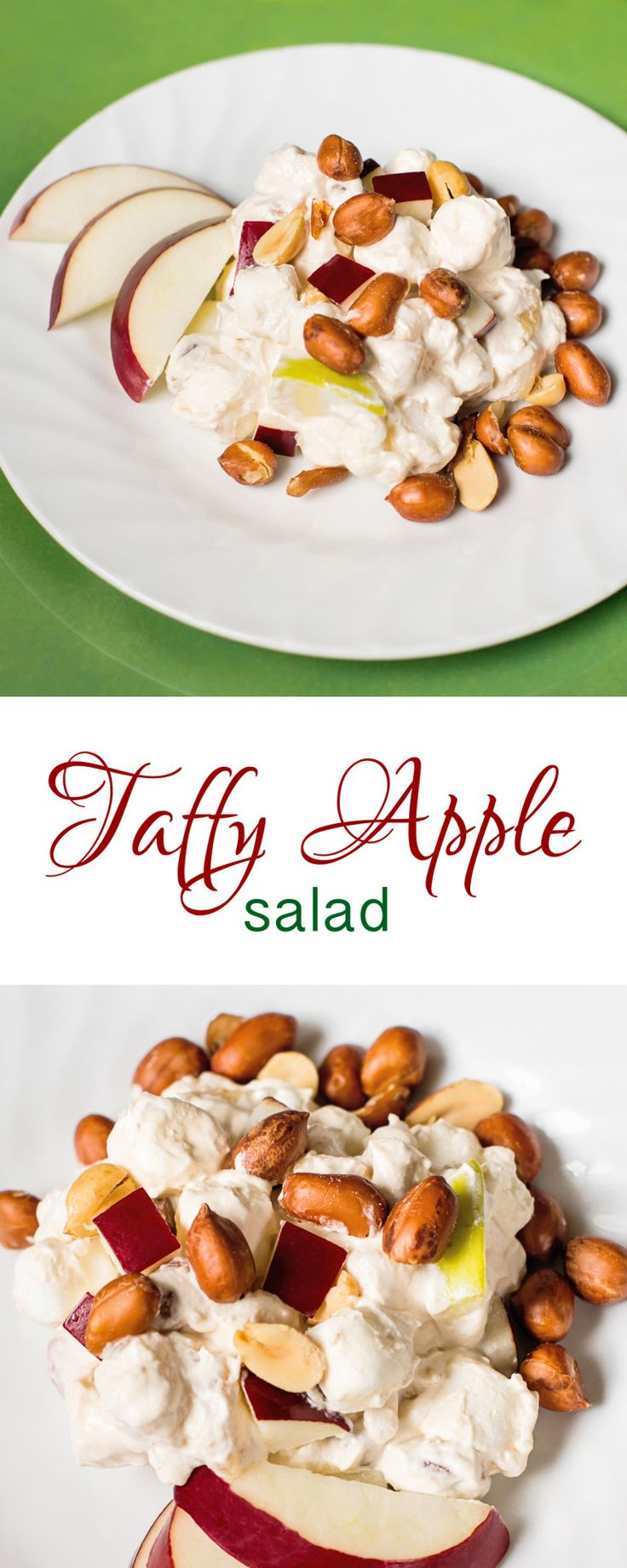Continuing oursalad week, we're hitting the sweet side with today's recipe. We've tried many versions of Taffy Apple Salad over the years as we searched for one witha greatpunc…