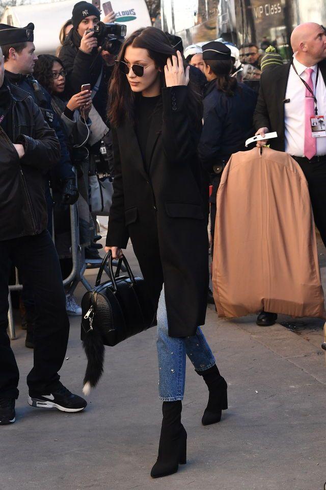 Bella Hadid on her way to Vs fashion show