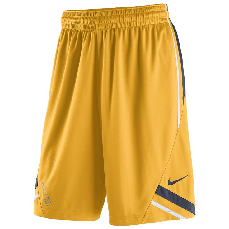 The Nike WVU Classic Men's Basketball Shorts are made with Dri-FIT fabric and vintage striped detail for modern comfort and old-school team style.