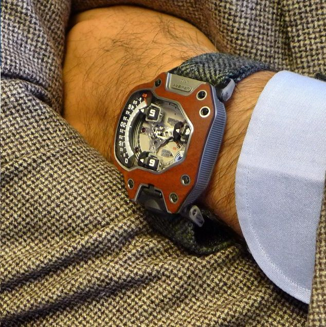 URWERK press event at Elder Street with the UR-110 tweed watch strap