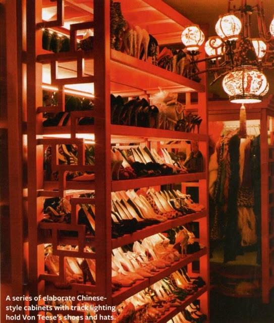 Dita's House via InStyle Magazine: Shoe Closet, Mod Vintage, Chinese Style, Dita Shoes, Vintage Life, Shoes Closet, Dita Von Teese, Teese Closet, Dita Closet