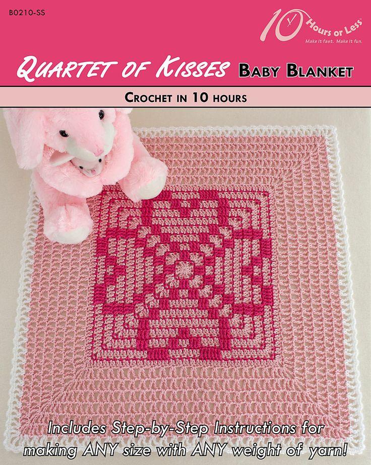 Quartet of Kisses baby blanket [crochet in 10 hours]