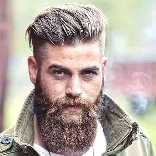 Modern Viking Undercut with Beard