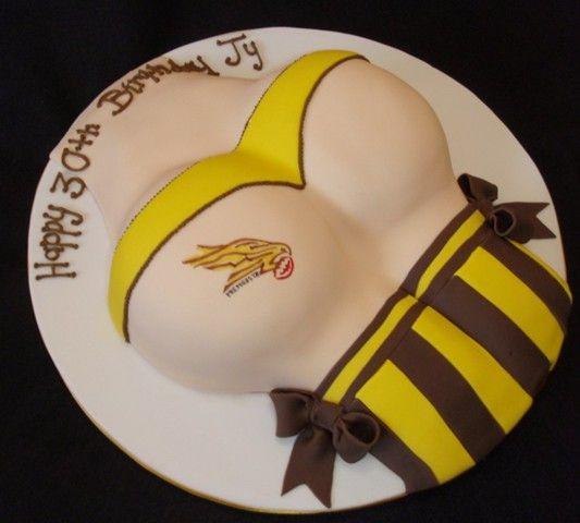 Naughty Hawthorn Hawks birthday cake