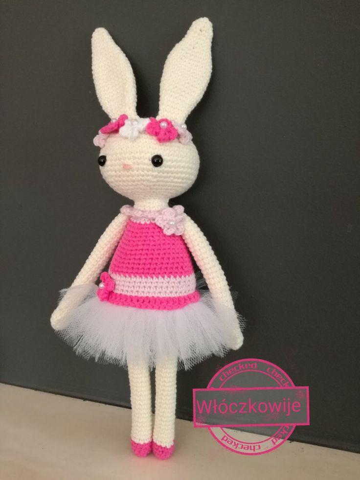 Amigurumi, crochet sweet bunny. 33cm, yarnart jeans