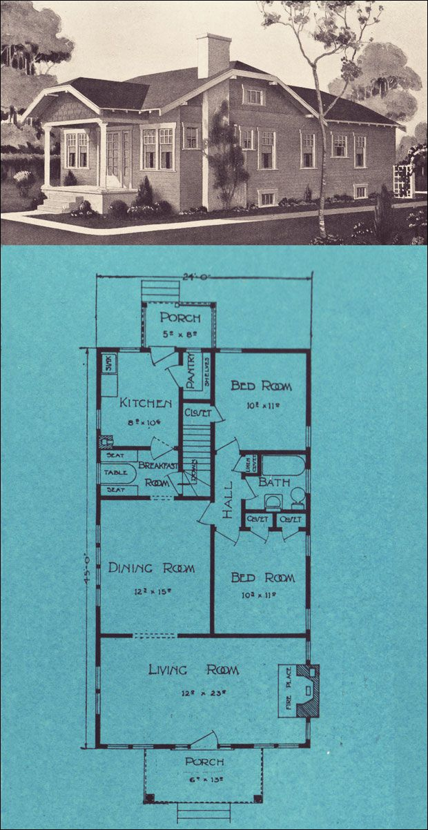 The Ravenna  Homes from Forest to You, 1924 by Stetson & Post Lumber, Seattle