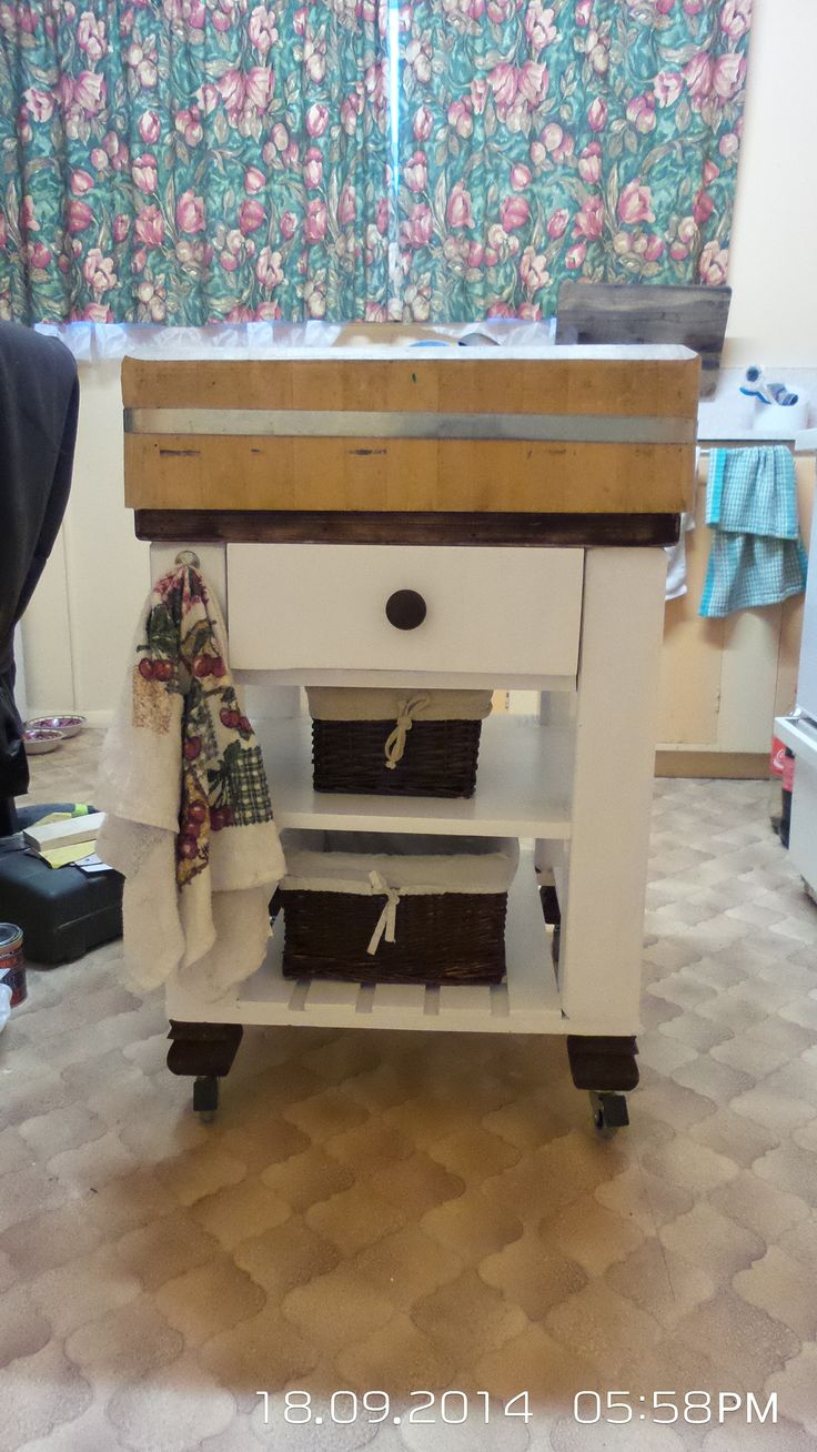 butcher block up cycled (After )