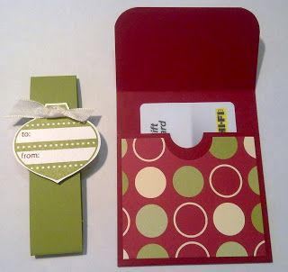 Paper Escape ~ Olivia Moore: Stampin'Up! Demonstrator Australia: Jolly Gift Card Holder
