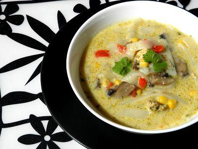 zadanie - gotowanie: Kokosowa zupa z kurczakiem.