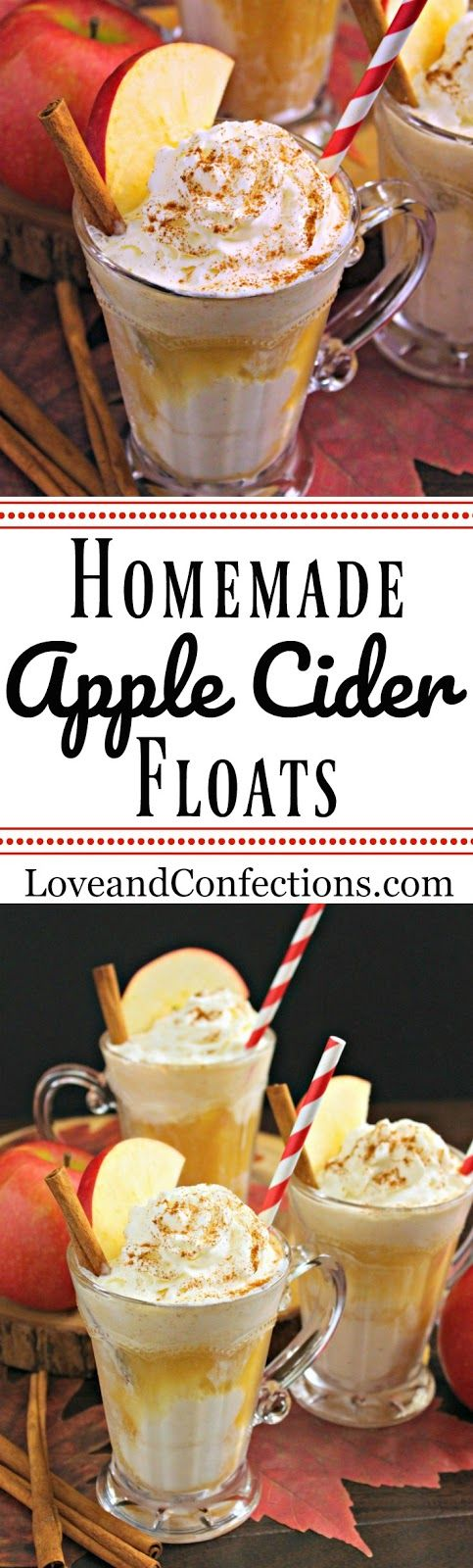 Homemade Apple Cider Floats from LoveandConfections.com with @dixiecrystals #ad