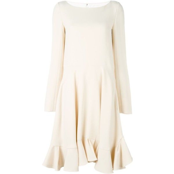 Chloé Ruffle Shift Dress ($1,497) Liked On Polyvore
