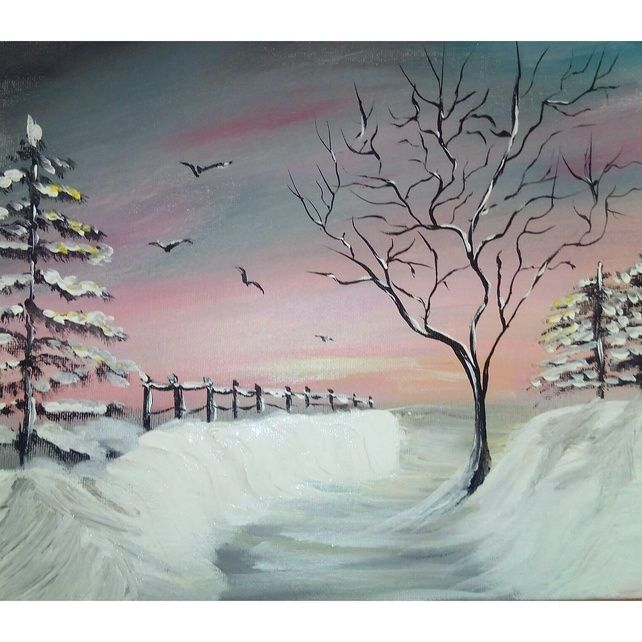 Sale Original Acrylic Scenic Painting Print  A4 Size Scenic Wall Decoration Home £18.00
