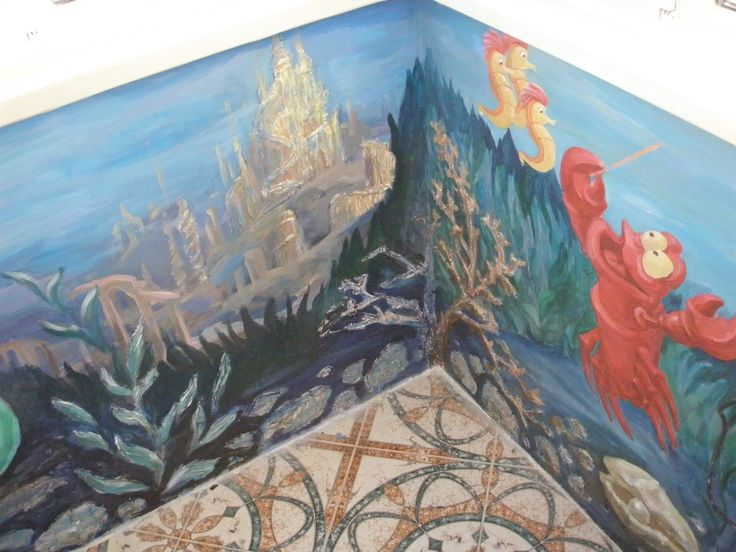 Little Mermaid Mural. #disneycustommural #kidmural