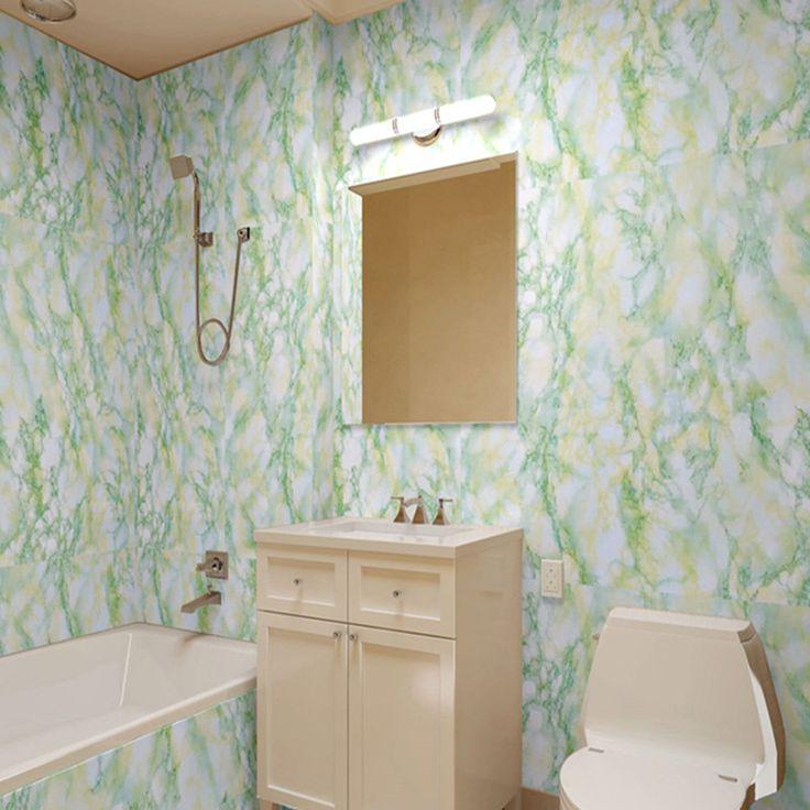 yazi Green Granite Marble Self-adhesive Vinyl Wallpaper Cabinet Stove Waterproof Sticker Kitchen Cupboard Decor