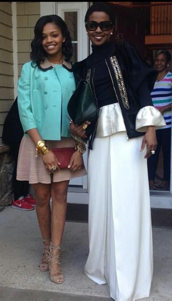 Lauren Hill and daughter. Beautiful!