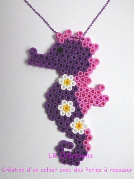 Cute Seahorse hama perler by lauri777