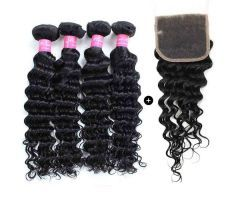 mink hair virign hair lace closure and bundles with closure | Hairinbeauty