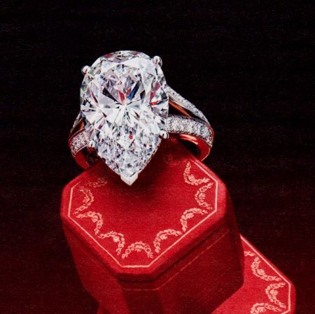 Cartier pear ring. WOW!! Split shank, channel set diamonds. Large pear center stone. One of my favorite rings of all time. <3