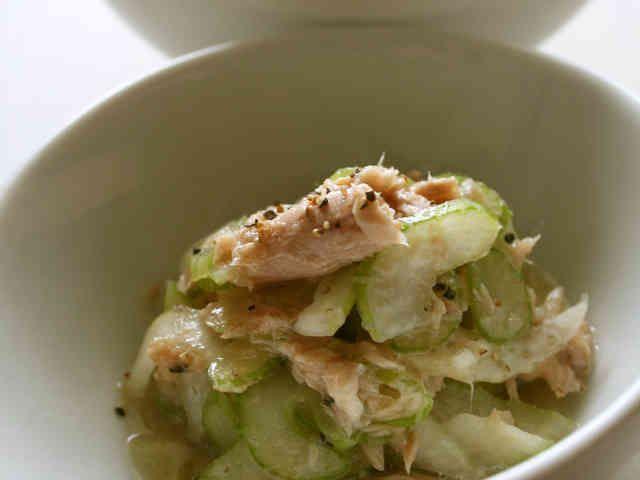 セロリとツナの超簡単サラダの画像