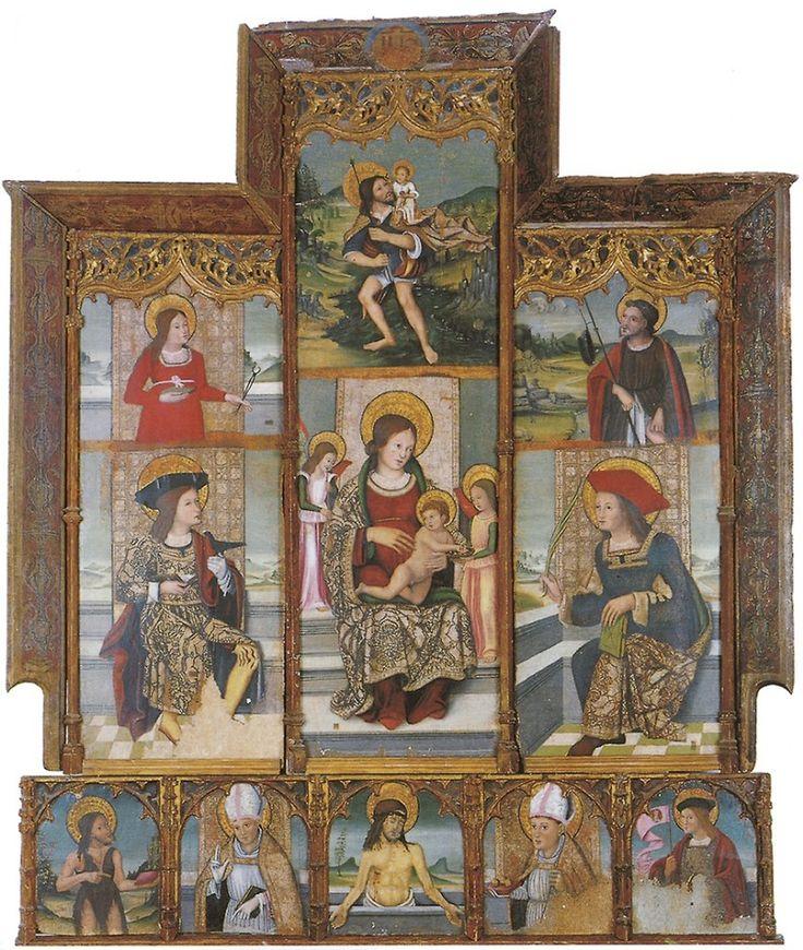 Maestro di Oliena, chiesa di Sant'Ignazio di Loyola, Retablo di San Cristoforo - Oliena (NU)