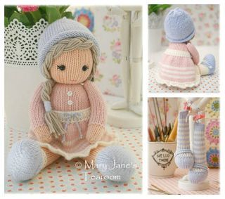 New! Little Yarn Dolls: Method 2/ Doll Knitting Pattern / Toy Knitting Pattern/ Knitted Dolls/ INSTANT Download by maryjanestearoom