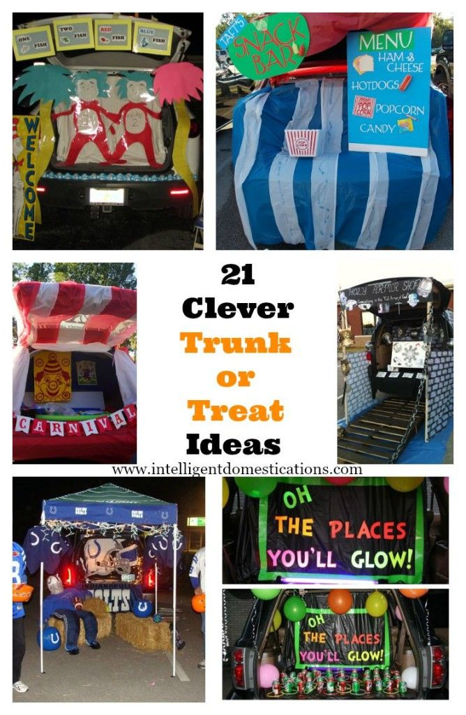 21 Clever Trunk or Treat Ideas at www.intelligentdomestications.com (scheduled via http://www.tailwindapp.com?utm_source=pinterest&utm_medium=twpin&utm_content=post11625418&utm_campaign=scheduler_attribution)
