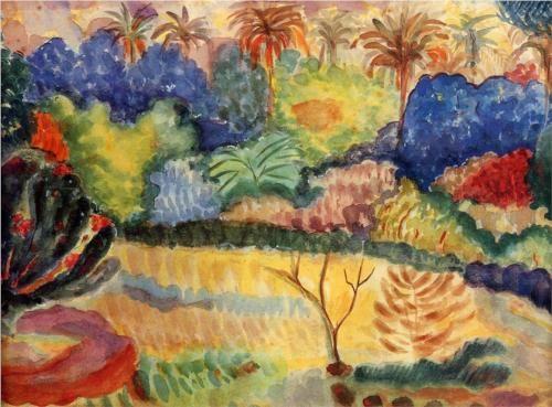Tahitian landscape - Paul Gauguin