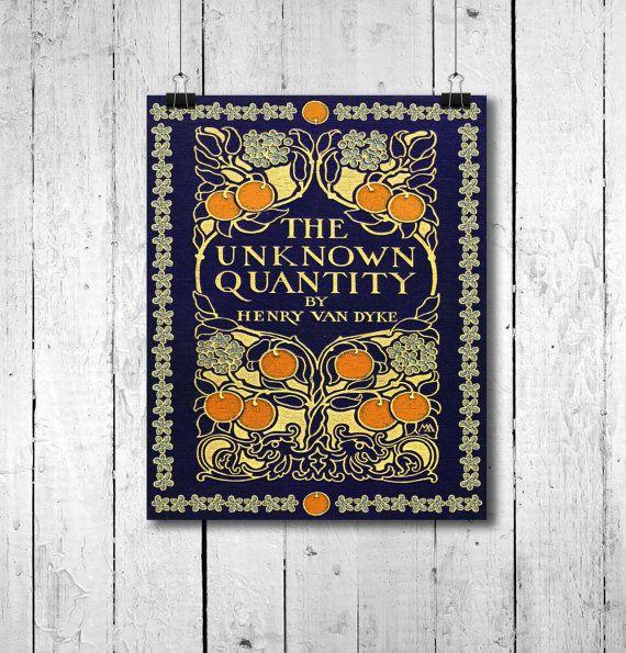 Art Nouveau boek afdrukken - Book Cover - Art Deco Print - Vintage foto antiek - antieke boeken - antieke Illustration - 8 x 10