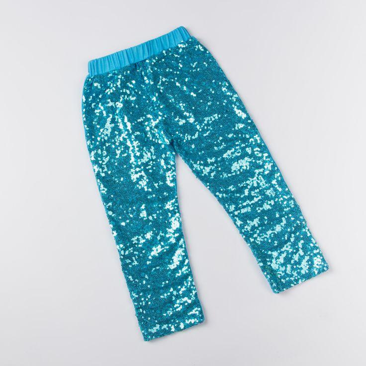 Новый летний поножи девочку леггинсы подражать хлопковые брюки бирюзовый блесток леггинсы для детей KP-SEQP11