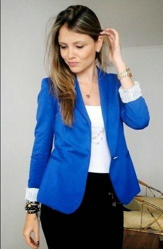 Coisas nada futéis: Blazer azul: seja ele royal, cobalto ou bic