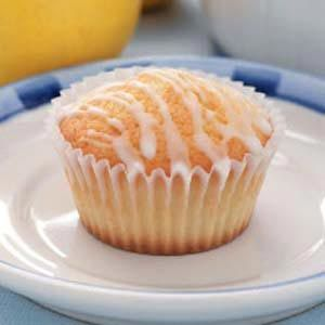 SUCCESS Lemon Pound Cake Muffins - only half the icing is needed ...