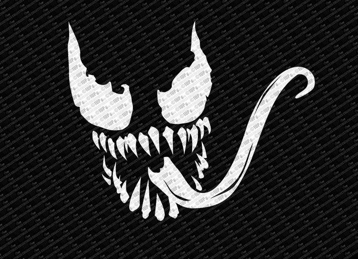 spider man venom logo decal sticker vinyl decals venom. Black Bedroom Furniture Sets. Home Design Ideas