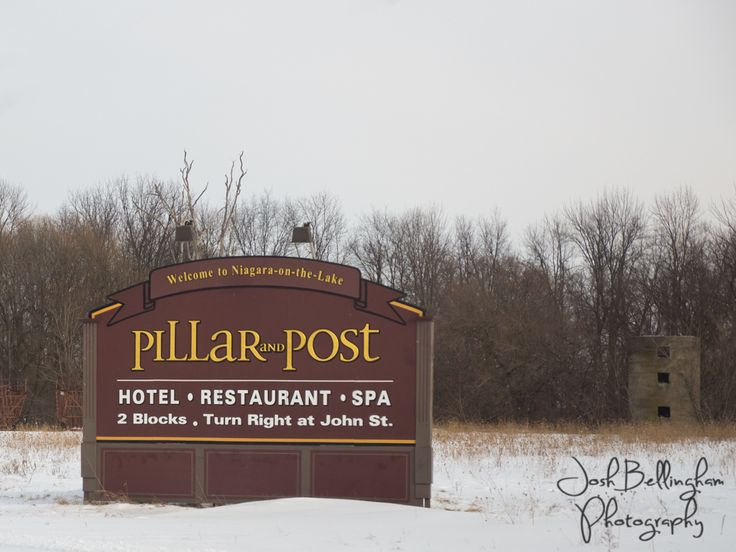 The Pillar and Post sign leading up to Downtown Niagara On The Lake.  @vintagehotels  #JoshBellinghamPhotography www.joshbellingham.com