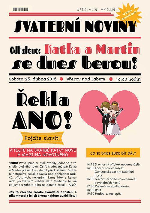 Svatební noviny cartoon / Zboží prodejce Bestwishes | Fler.cz