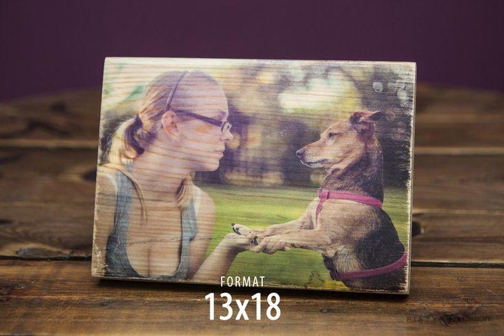 """Zdjęcie na drewnie - """"ZdrewniałaFotka"""" - 13x18 - PiatyElement - Ramki na zdjęcia"""