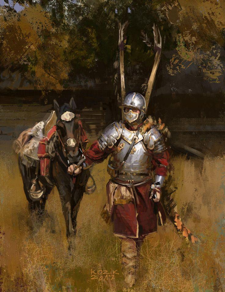 ArtStation - The Winged Hussar. , Mariusz Kozik