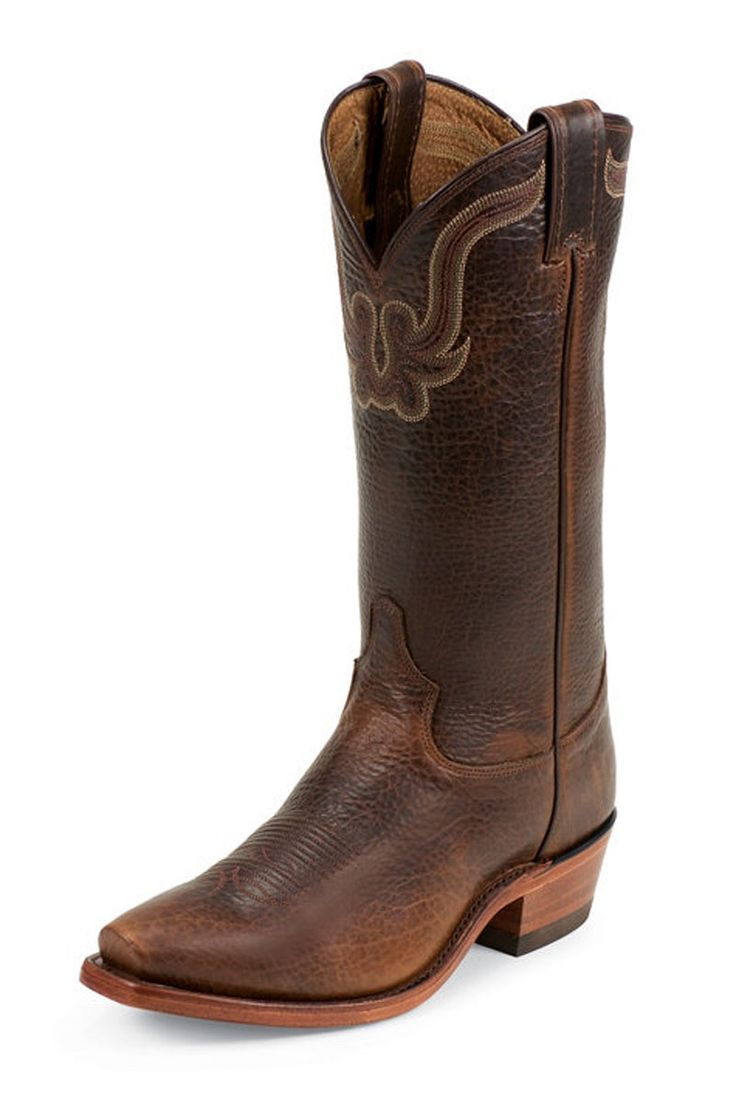 Tony Lama Men's El Paso Dark Pecan Rowdy Bison Cowboy Boots