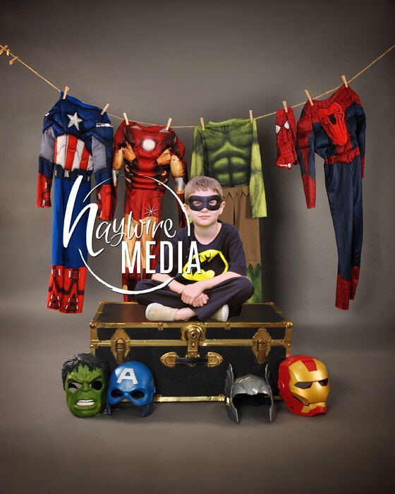 Boys Superhero Costume Dressup Clothesline Studio Scene Backdrop - Digital Super Hero Halloween Photography Background - Instant Download by HaywireMedia on Etsy https://www.etsy.com/listing/239801445/boys-superhero-costume-dressup