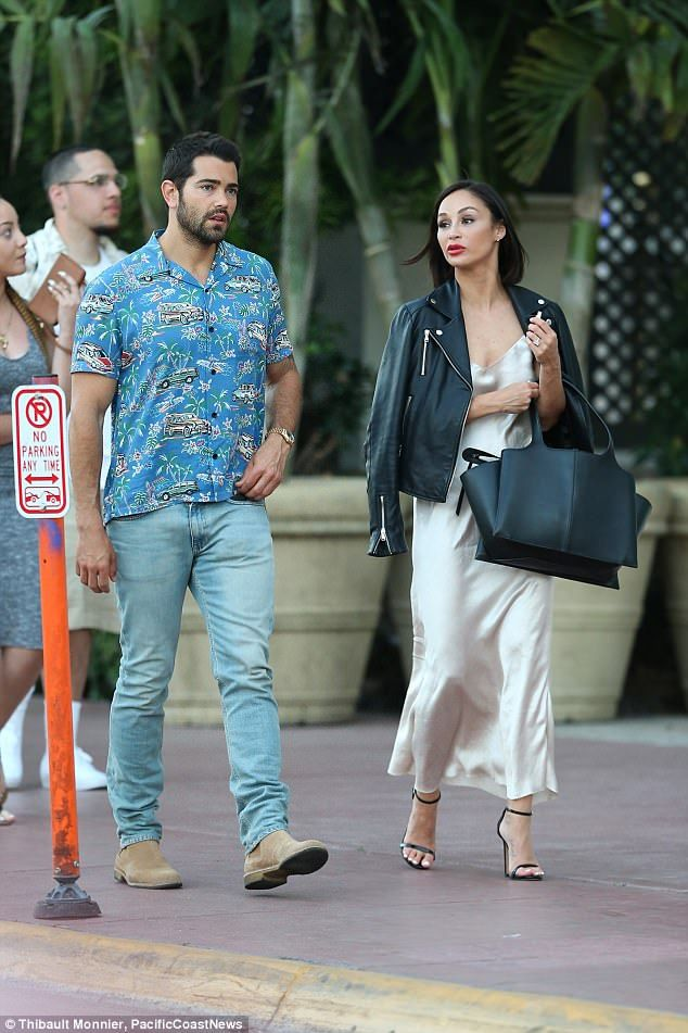 Fancy!Later in the day the pair glammed up for a night at the famous Versace Mansion on M...