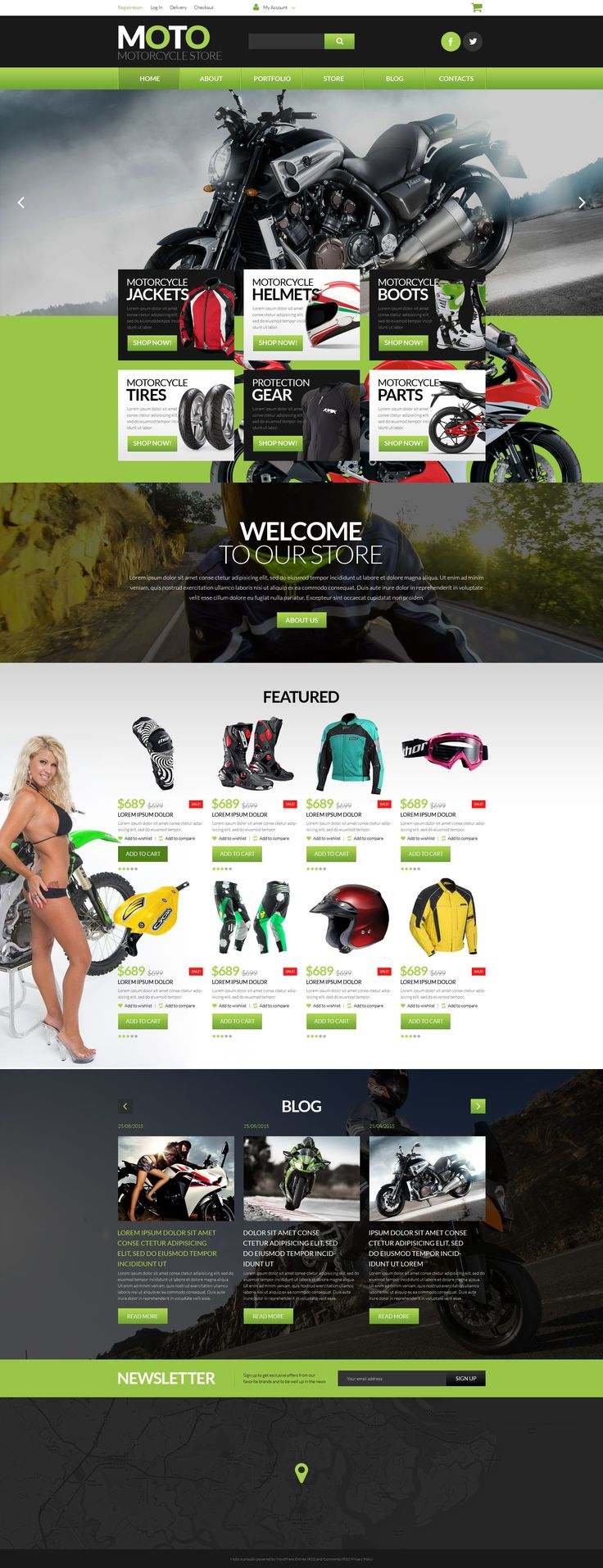 This template for motorcycle stores will become popular among the bike owners. It perfectly conveys the spirit of speed and thrill. Motorsports store WooCommerce theme's navigation is super simple ...