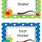 This EDITABLE set includes 6 classroom jobs (4x6 in size) and 4 blank templates.    Line Leader Scrap Monster - in charge of keeping trash picked u...