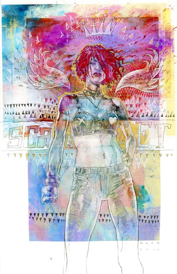 David mack scarlet variant mixed crazy colors by mack cause the entire image to blend even though youd think it would clash with all those different