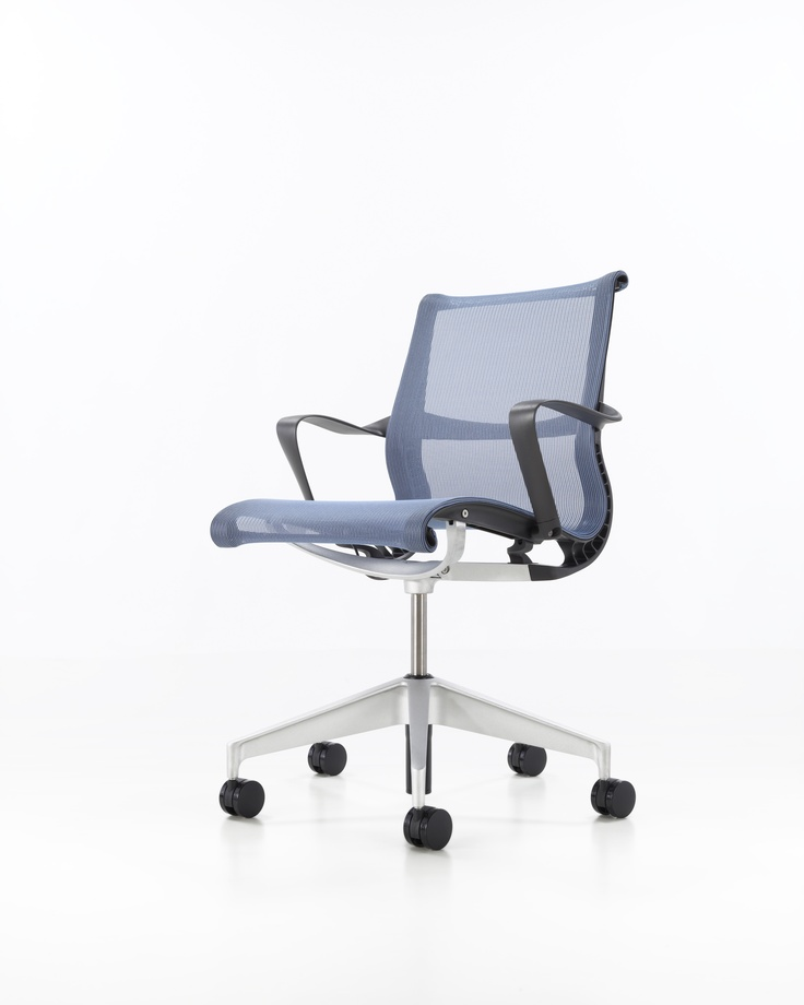 herman millersetu chair lyris base with arms