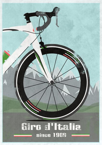 Giro d'Italia Bike Art Print tour de france bicycle