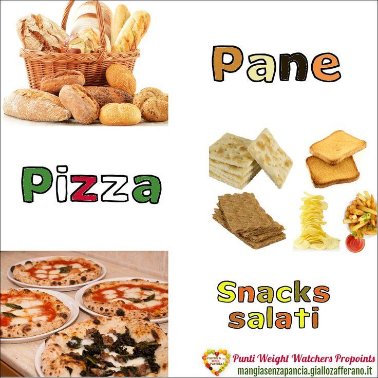 Lista Punti Weight Watchers Pane Pizza e Snack salati per calcolarne il valore da inserire nel diario alimentare quotidiano