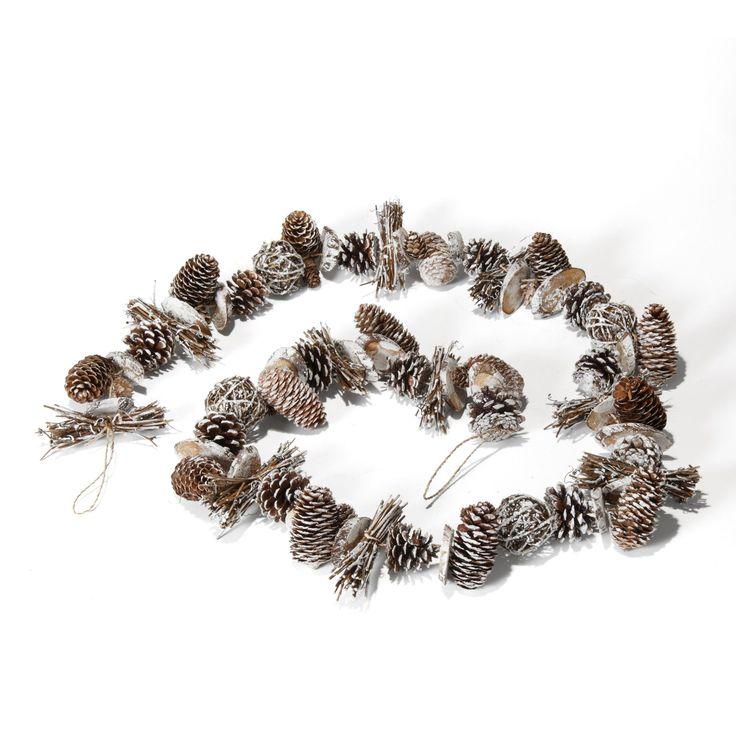 Guirlande noël pommes de pin et brindilles Naturel - Nature essentielle - Les guirlandes - Les décorations du sapin - Noël - Décoration d'intérieur - Alinéa