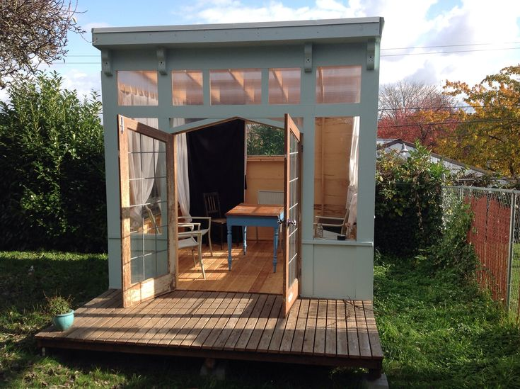11 best images about backyard office on pinterest for Outside office shed